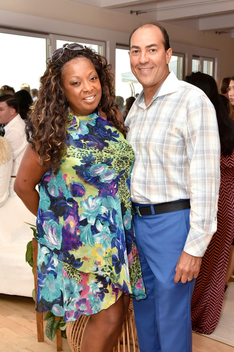 "Star Jones and husband ""party under the stars"" celebration"