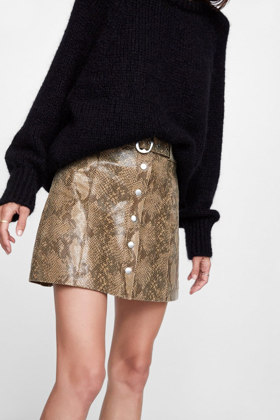Zara snakeskin mini skirt