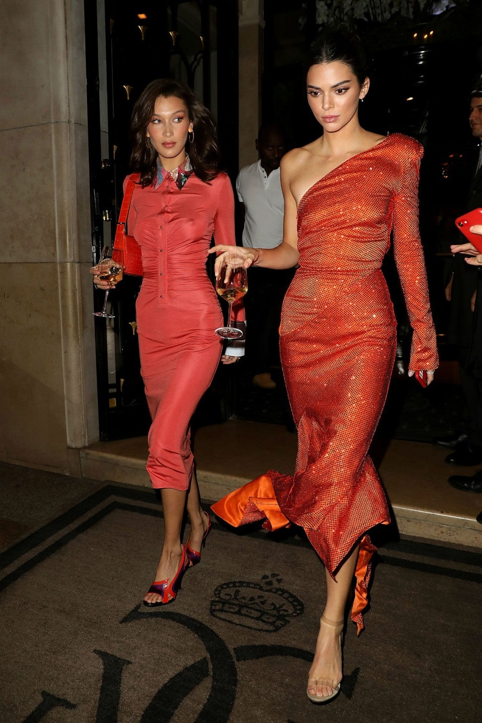 Kendall Jenner and Bella Hadid Step Out in Paris With Glasses of ...