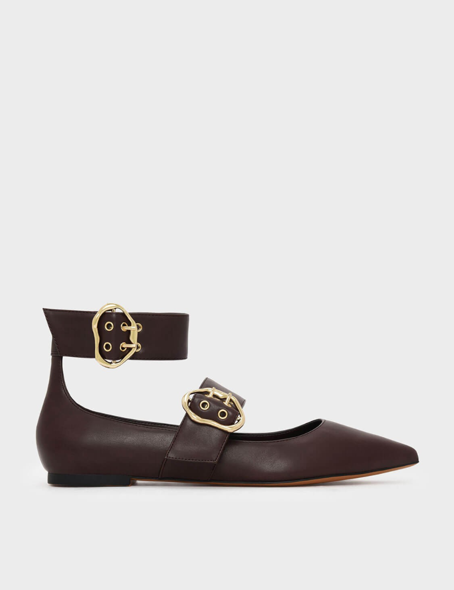 Charles & Keith buckle flats