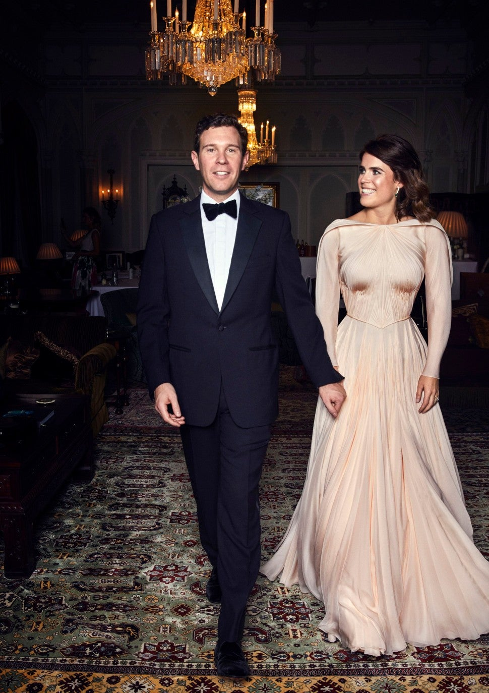 how princess eugenie s wedding reception dress compares to kate middleton and meghan markle s entertainment tonight wedding reception dress compares