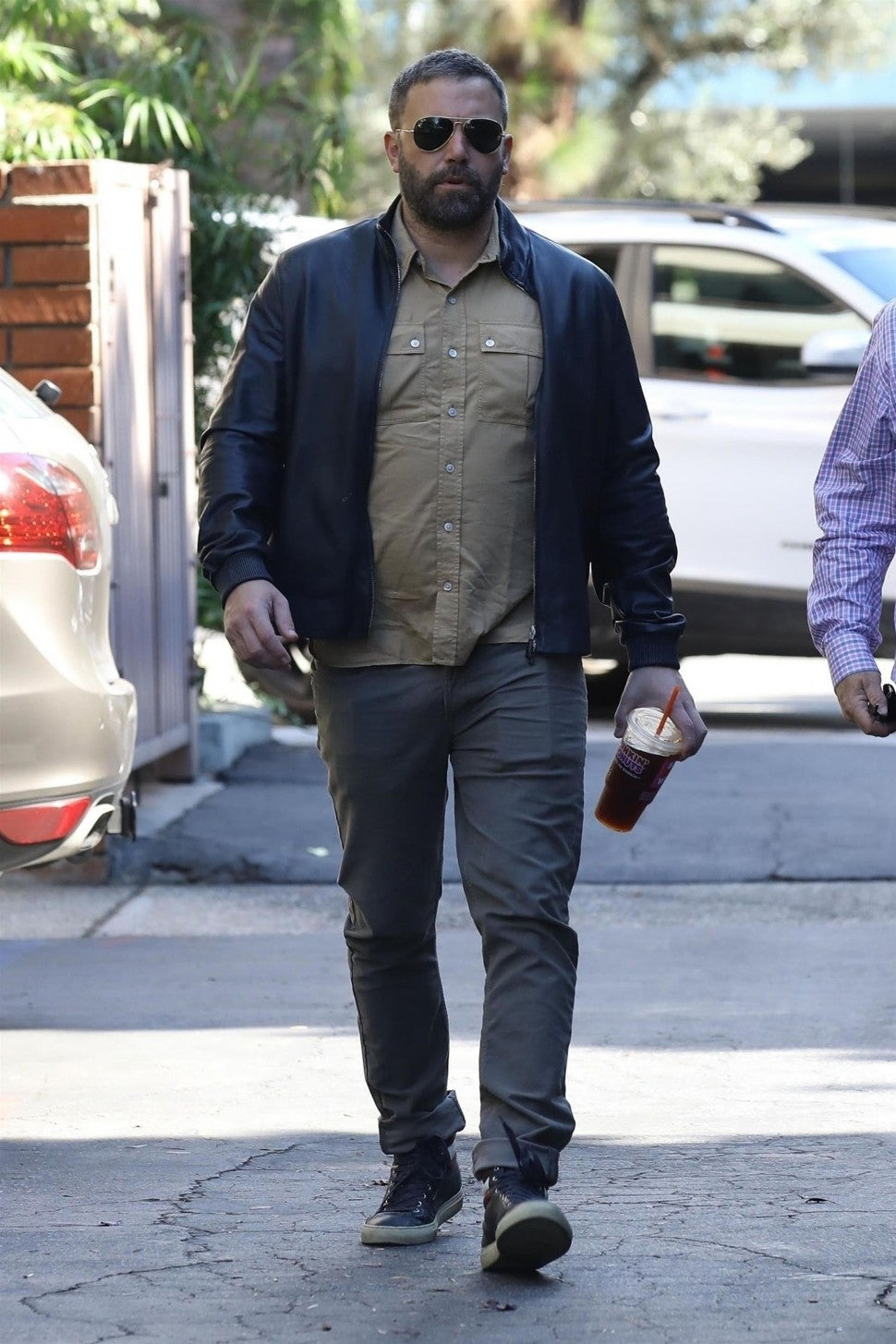 Ben Affleck is seen heading to a therapy session in Los Angeles.