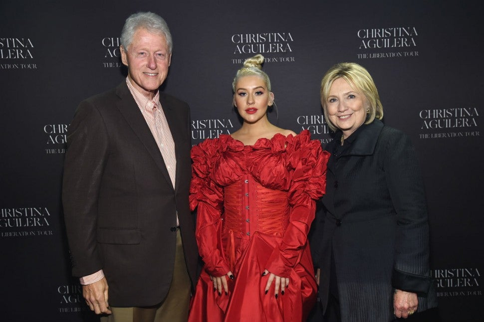 Christina Aguilera and the Clintons