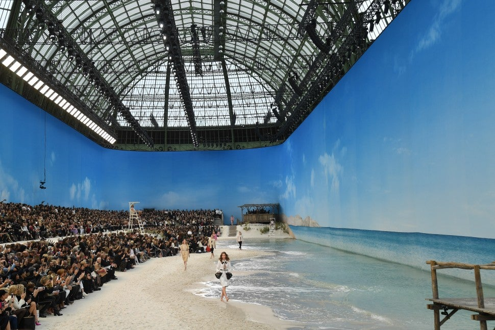 Chanel beach show at Grand Palais