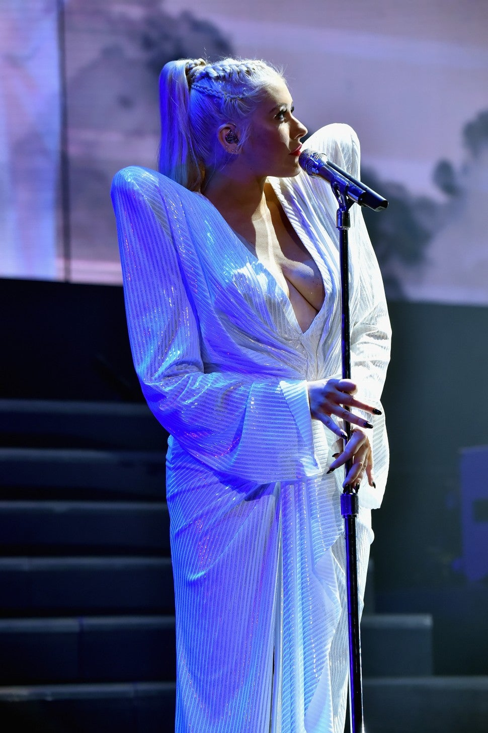 Christina Aguilera tour sequined dress