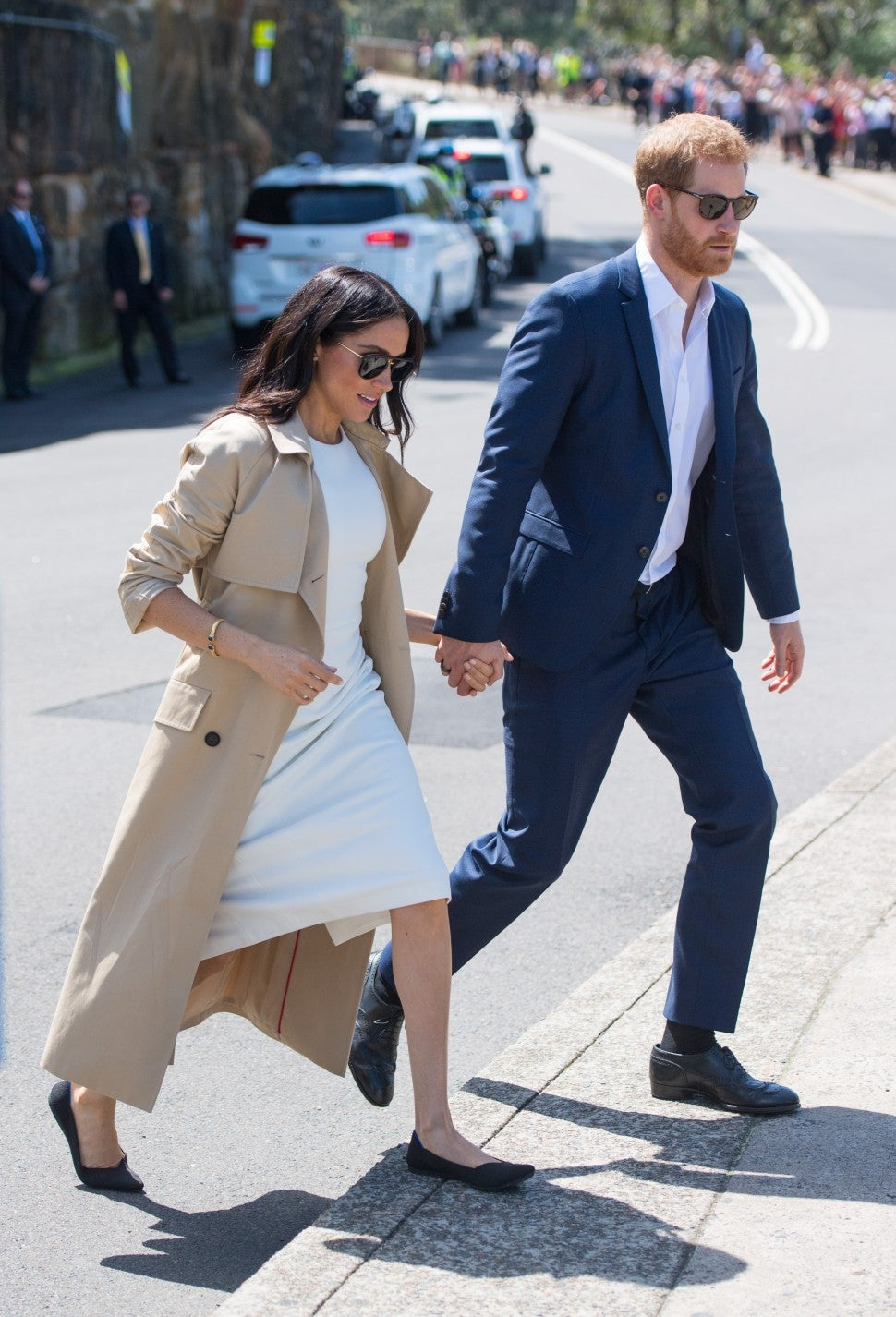 Meghan Markle in flats with Prince Harry