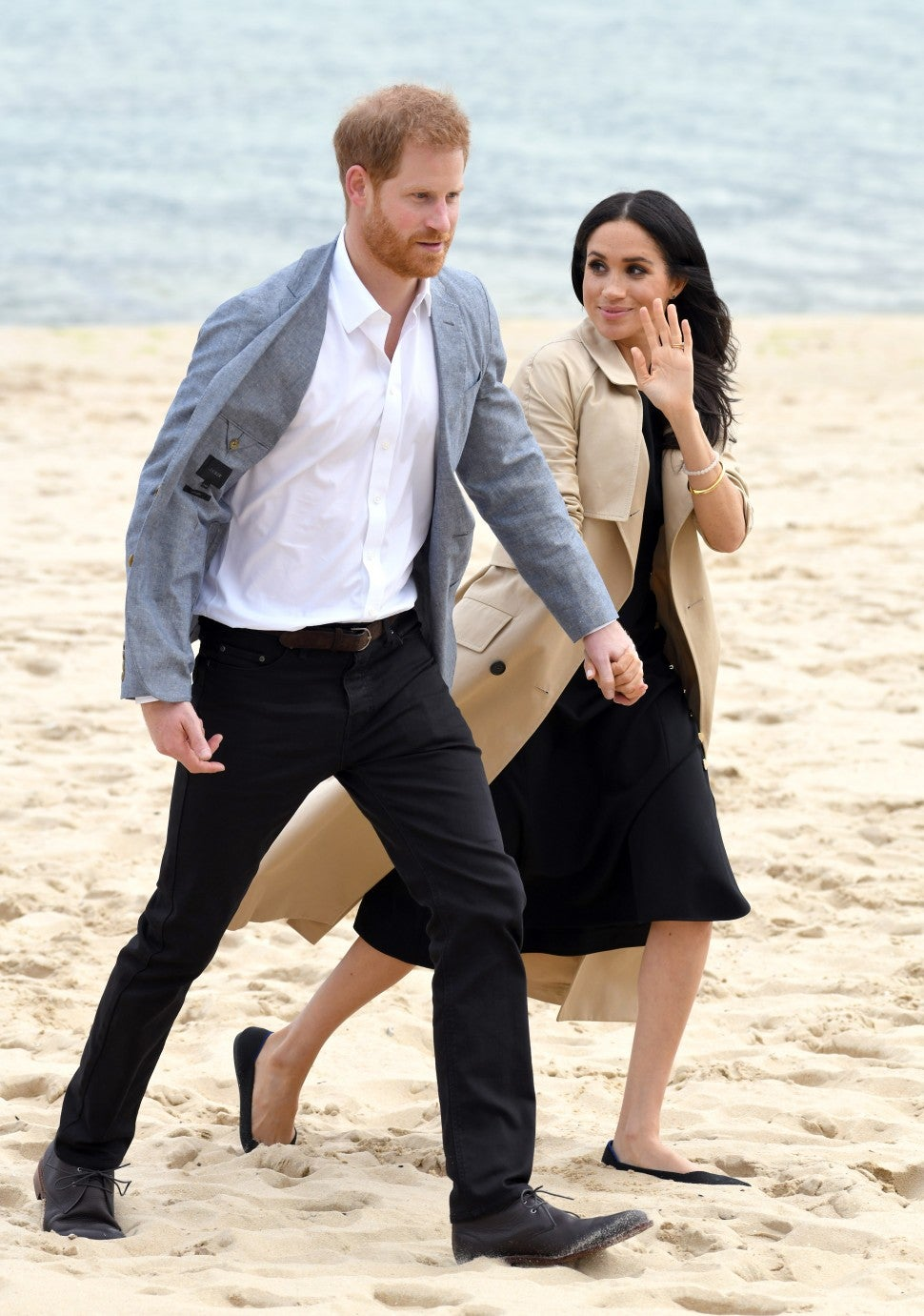 Meghan Markle and Prince Harry at beach
