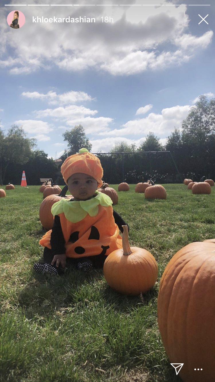 True Thompson at pumpkin patch in 2018