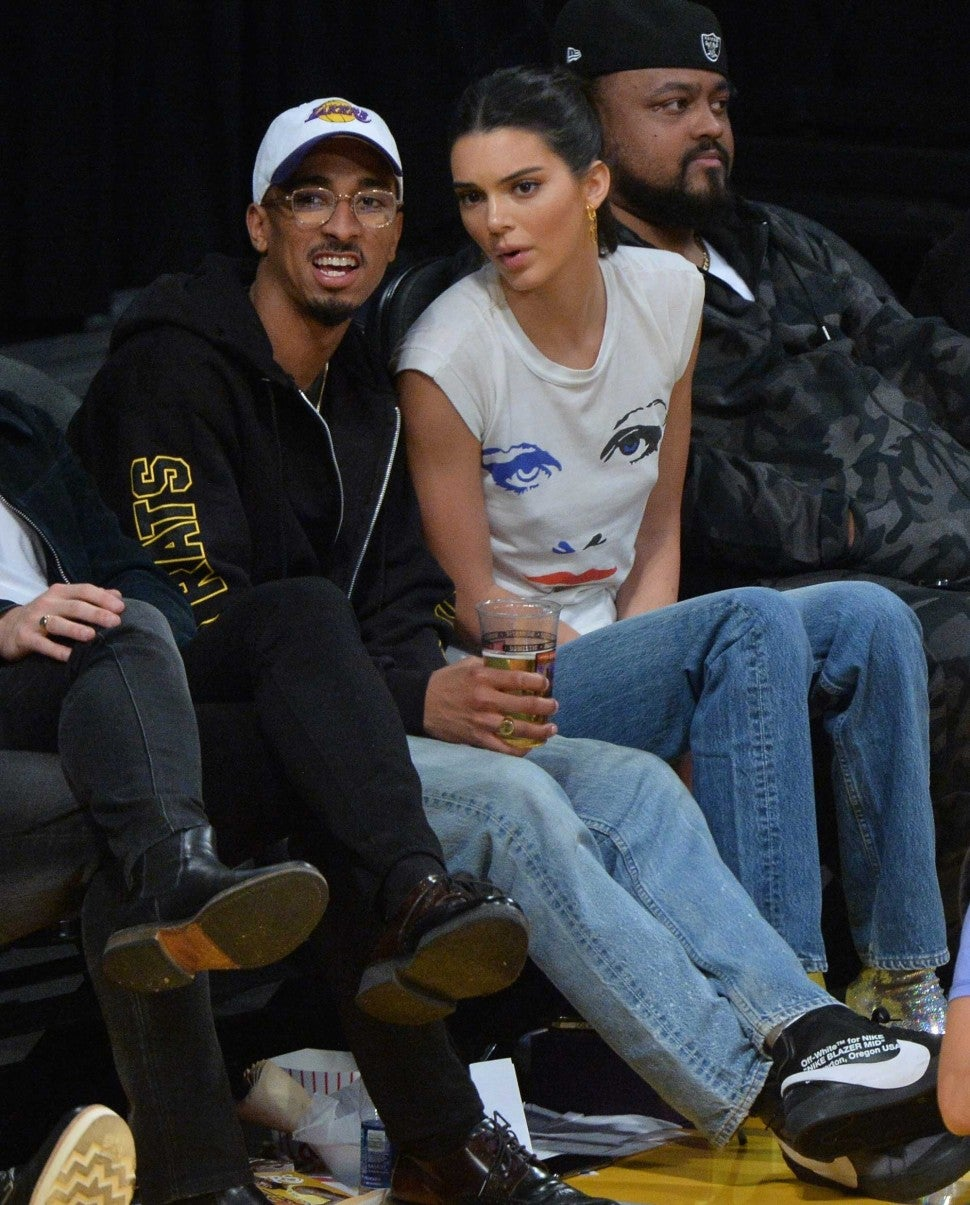 Kendall Jenner at the Los Angeles Lakers game at the Staples Center on Oct. 20