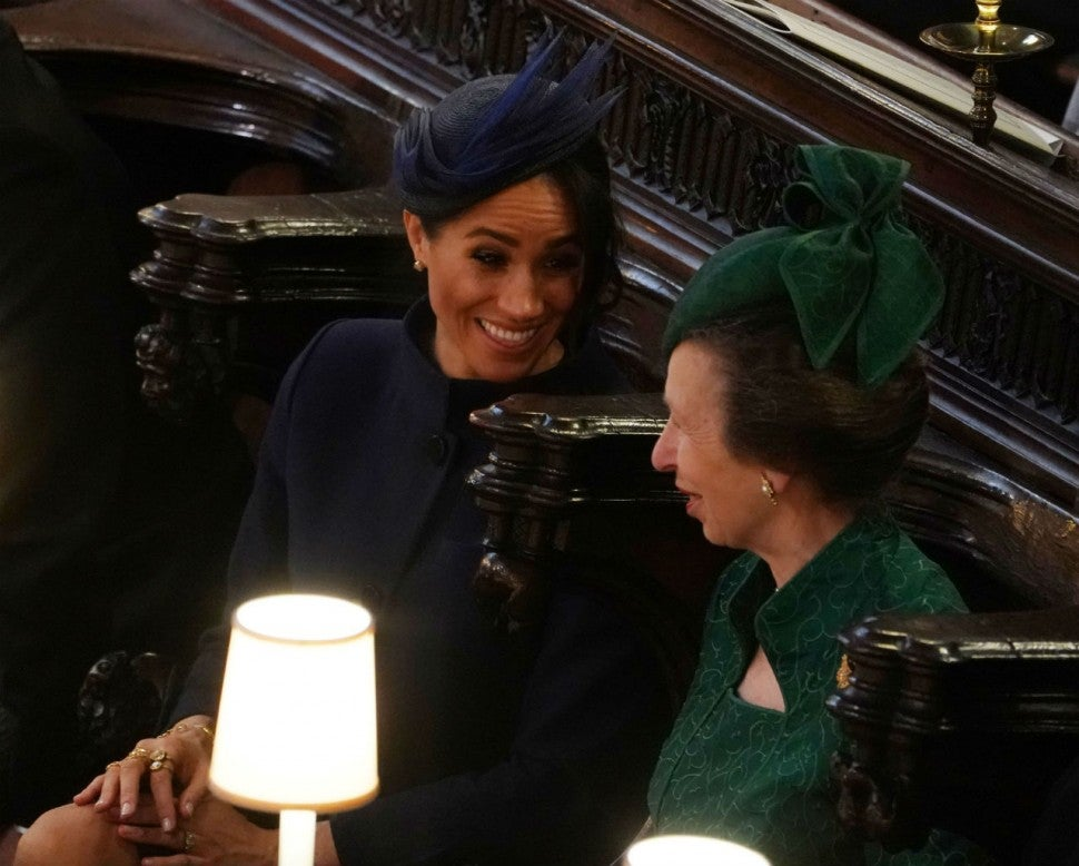 Meghan Markle and Princess Anne