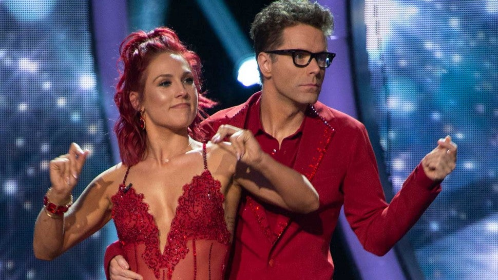 Sharna Burgess and Bobby Bones in the premiere of 'Dancing With the Stars' Season 27