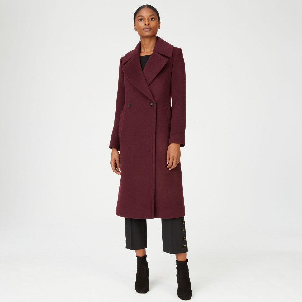 Club Monaco burgundy coat