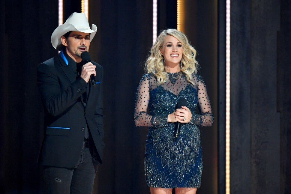 Carrie Underwood and Brad Paisley CMA