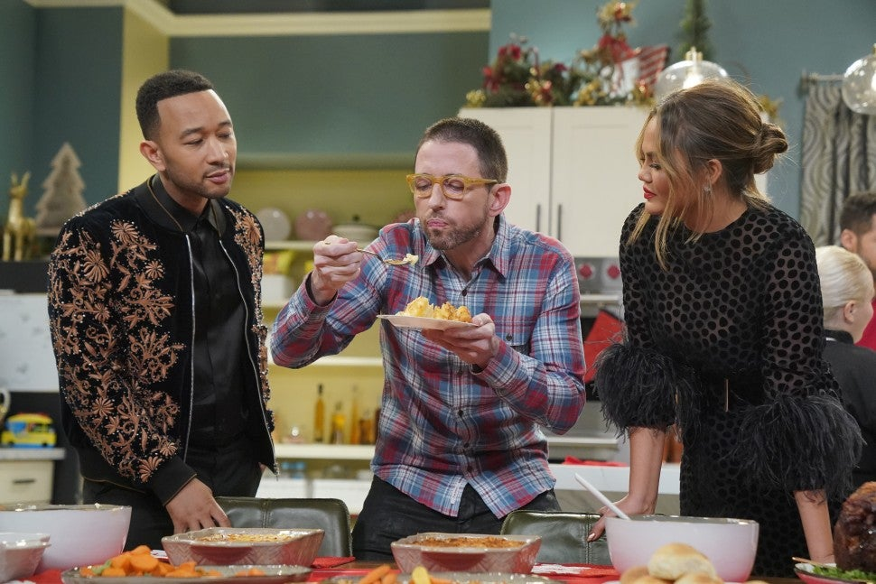 John Legend, Neal Brennan, Chrissy Teigen Legendary Christmas