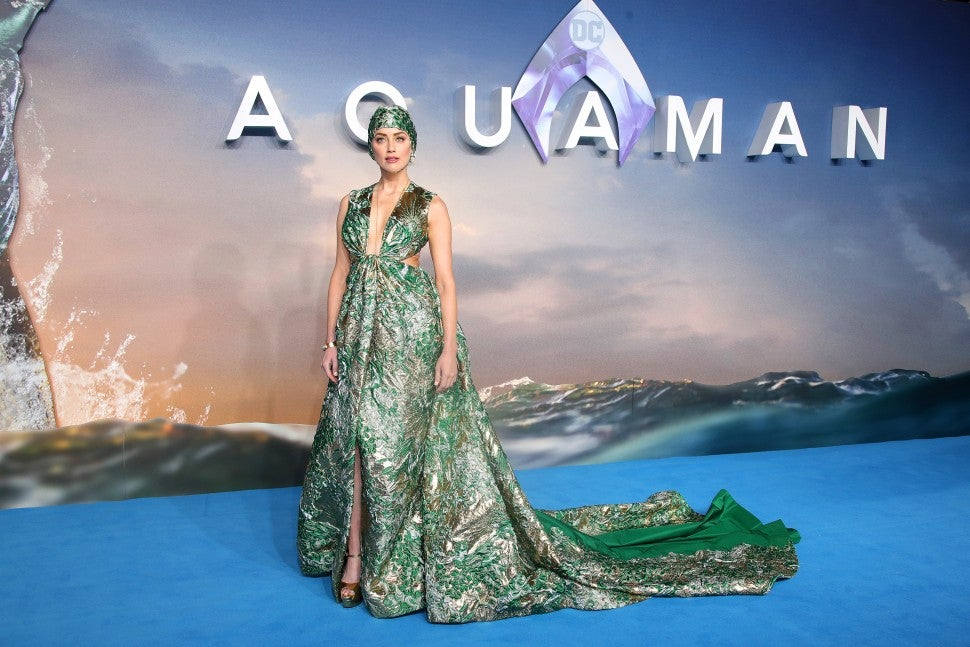 Amber Heard at Aquaman London premiere