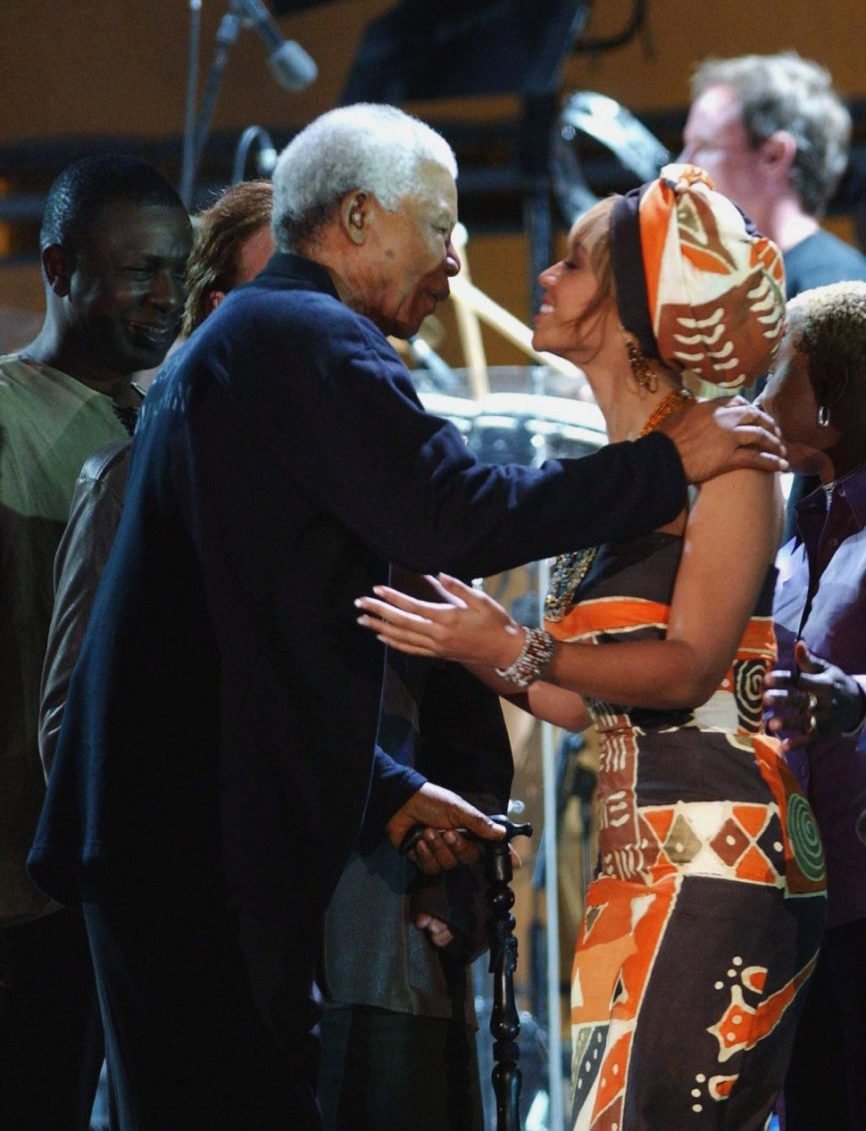 Beyonce and Nelson Mandela
