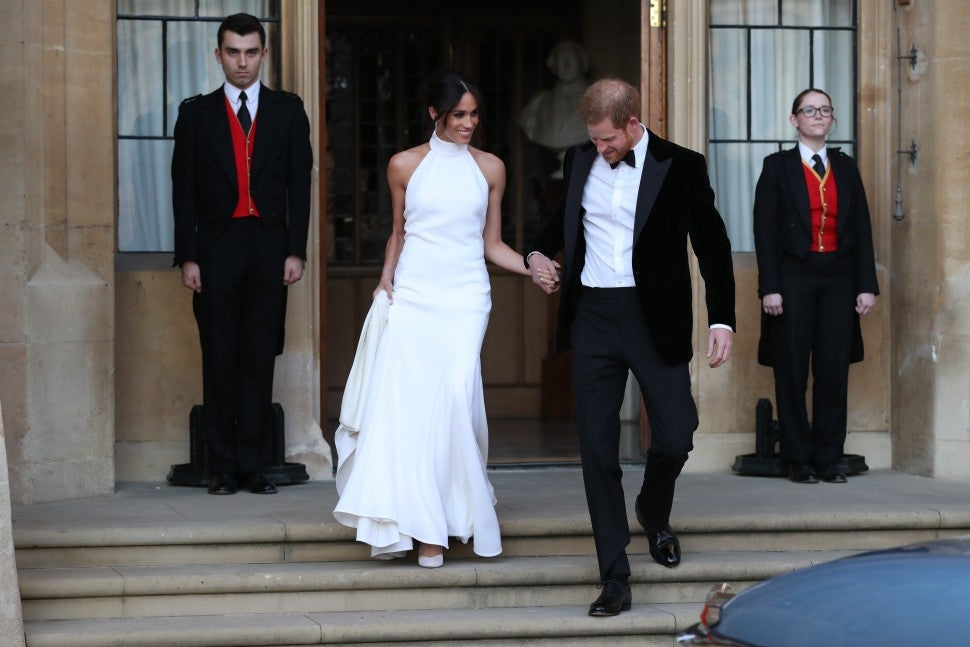 Meghan Markle wedding reception dress