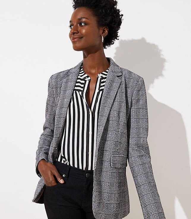 LOFT plaid blazer