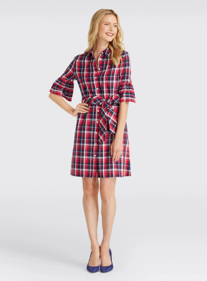 Draper James plaid shirtdress