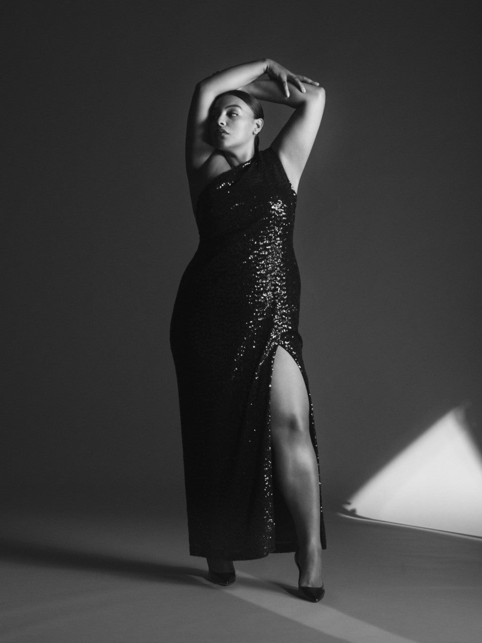 Paloma Elsesser in sequin gown Eloquii