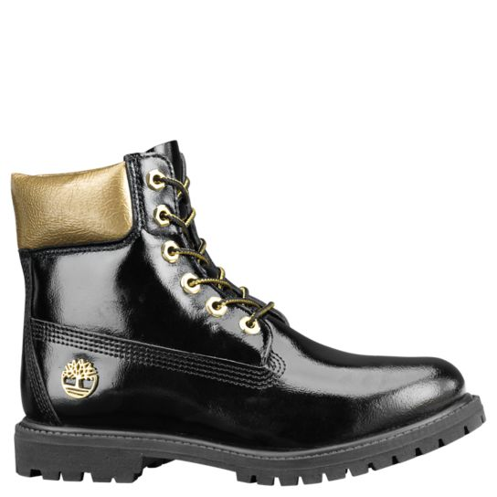 Timberland patent leather boots