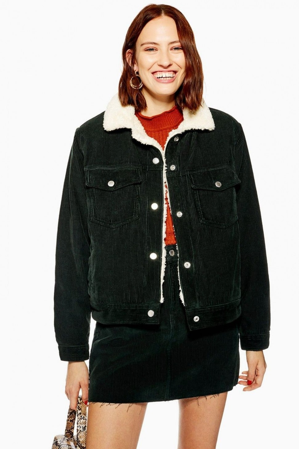 Topshop cord lined jacket