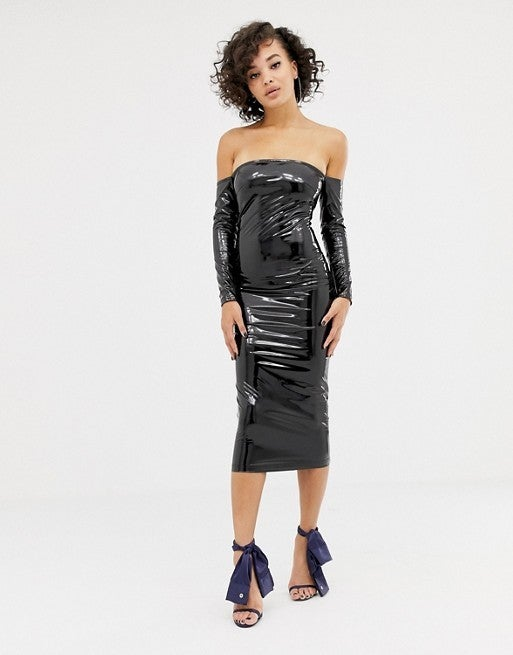 LaQuan Smith x ASOS vinyl dress