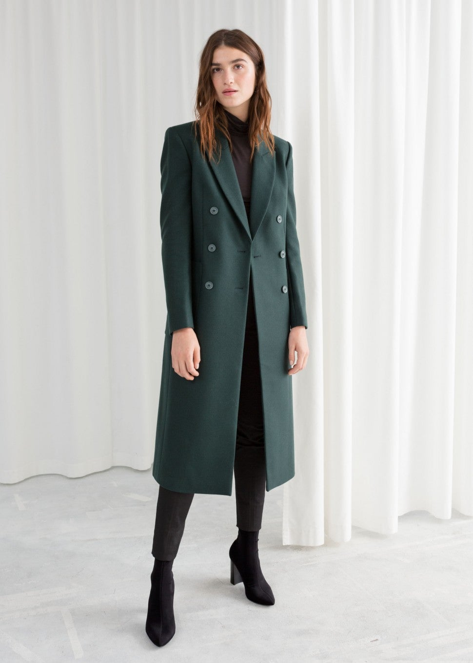 & Other Stories green coat