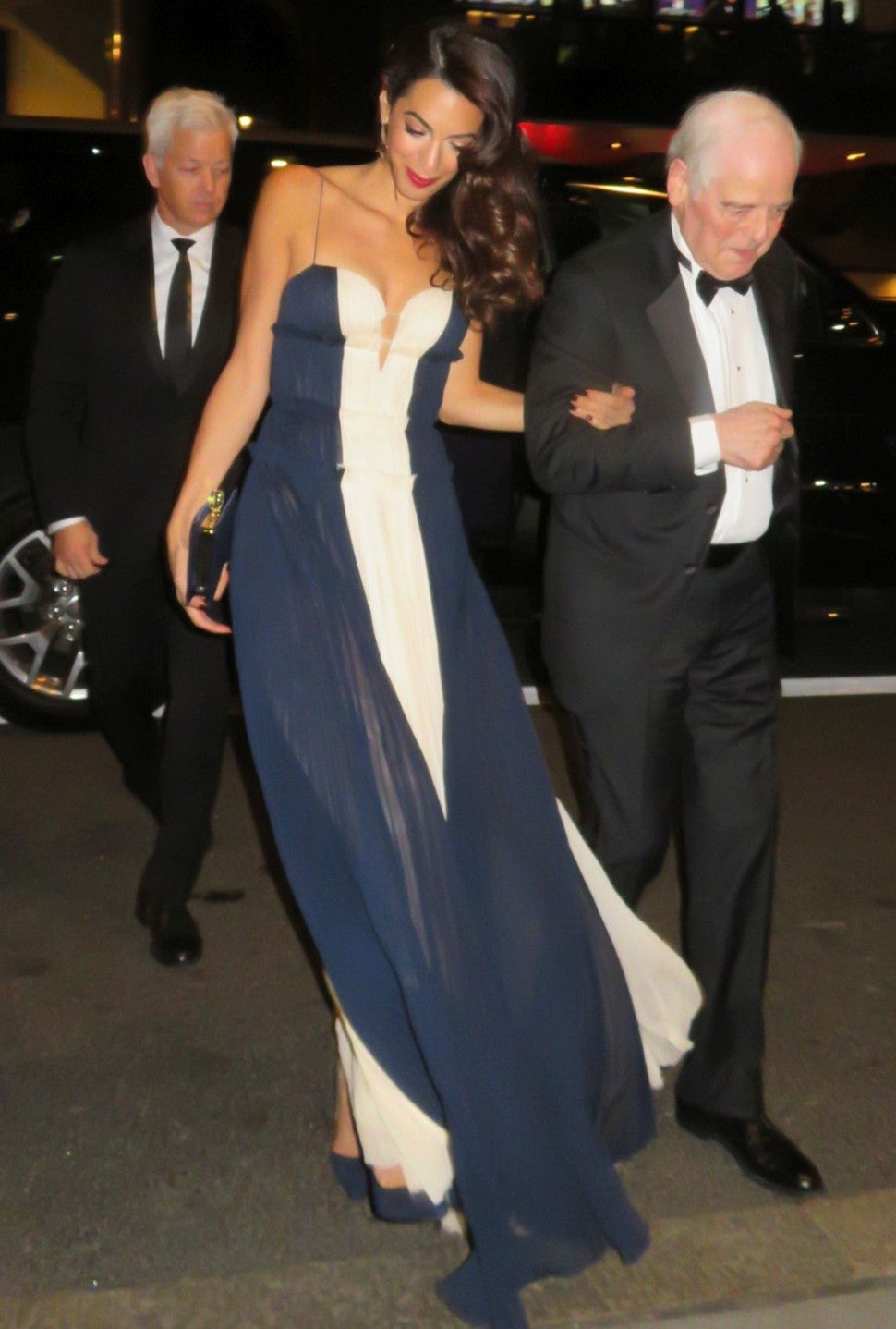 Amal Clooney with her father in law