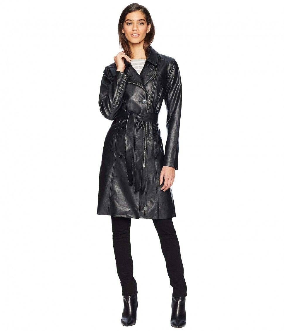 Blank NYC leather coat