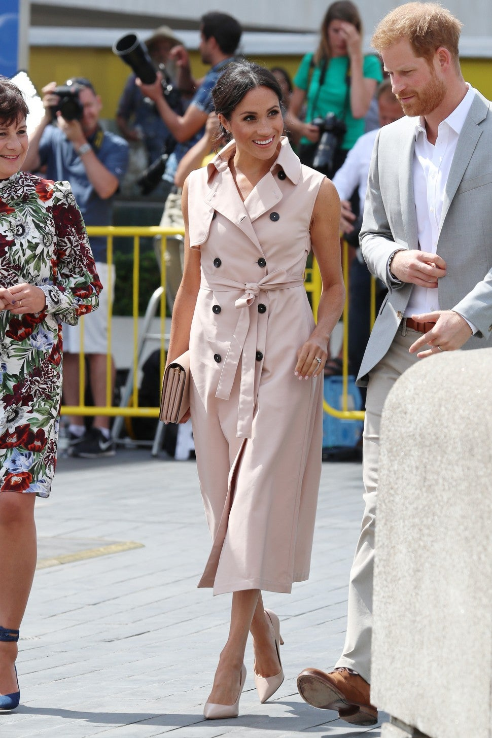 Meghan Markle in Nonie trench coat dress
