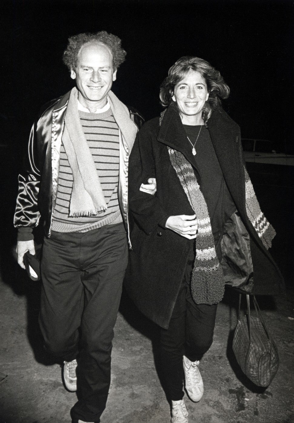 Art Garfunkel and Penny Marshall during 'Terms of Endearment' New York City Premiere at Coronet Theater in New York City, New York, United States.