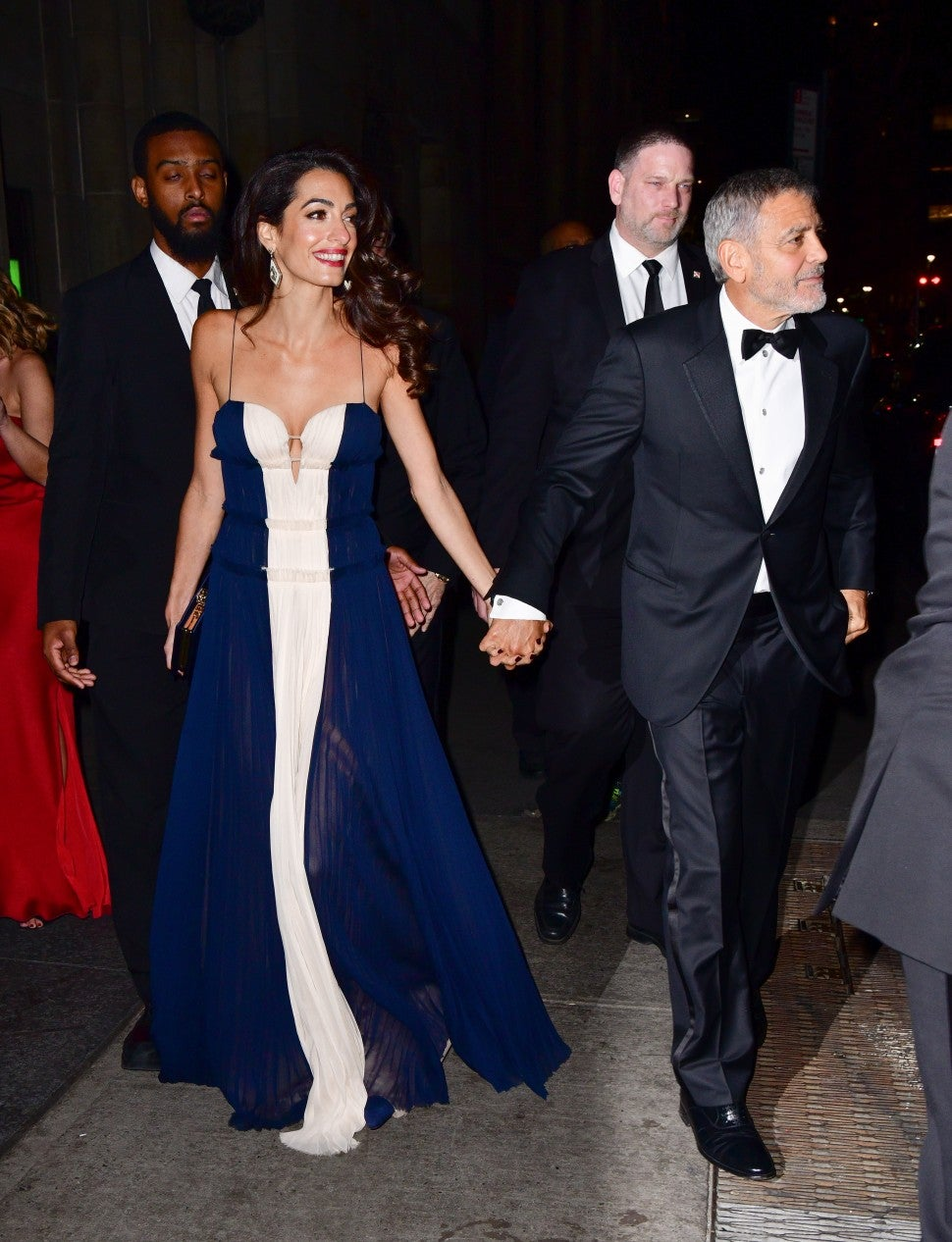 Amal and George Clooney arriving at 23rd Annual United Nations Correspondents Associations Awards