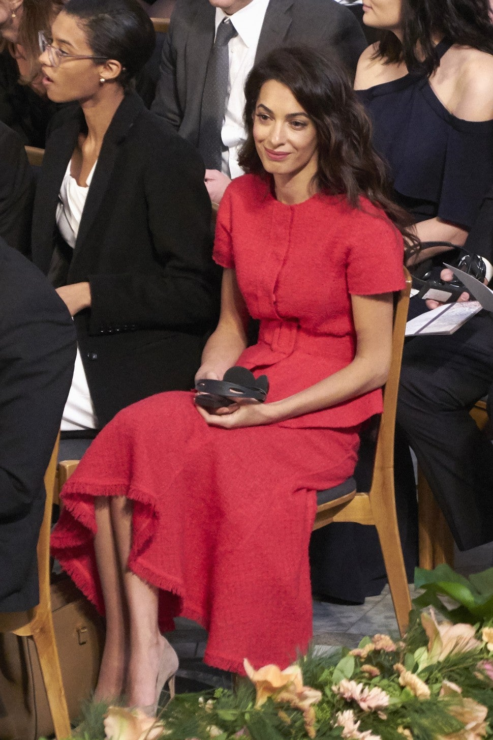 Amal Clooney at Nobel Peace Prize ceremony