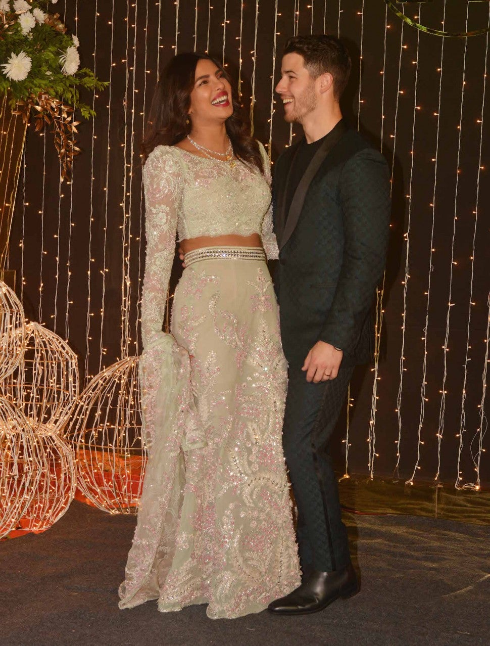 Nick Jonas and Priyanka Chopra at third wedding reception in Mumbai