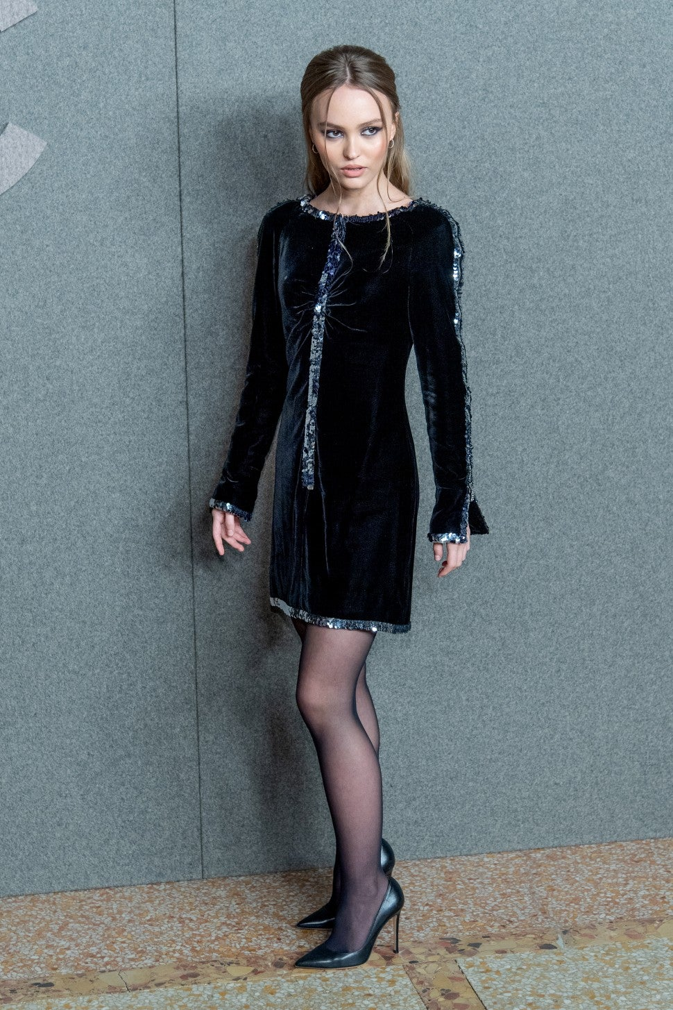 Lily-Rose Depp at Chanel pre-fall show