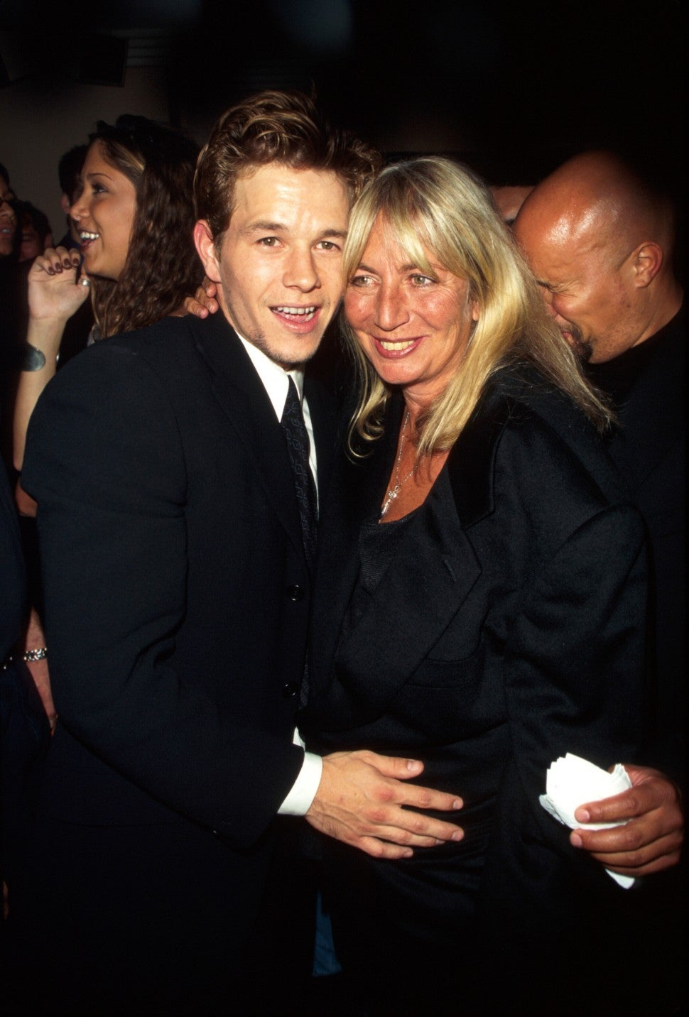 Actor Mark Wahlberg and actress/director Penny Marshall.