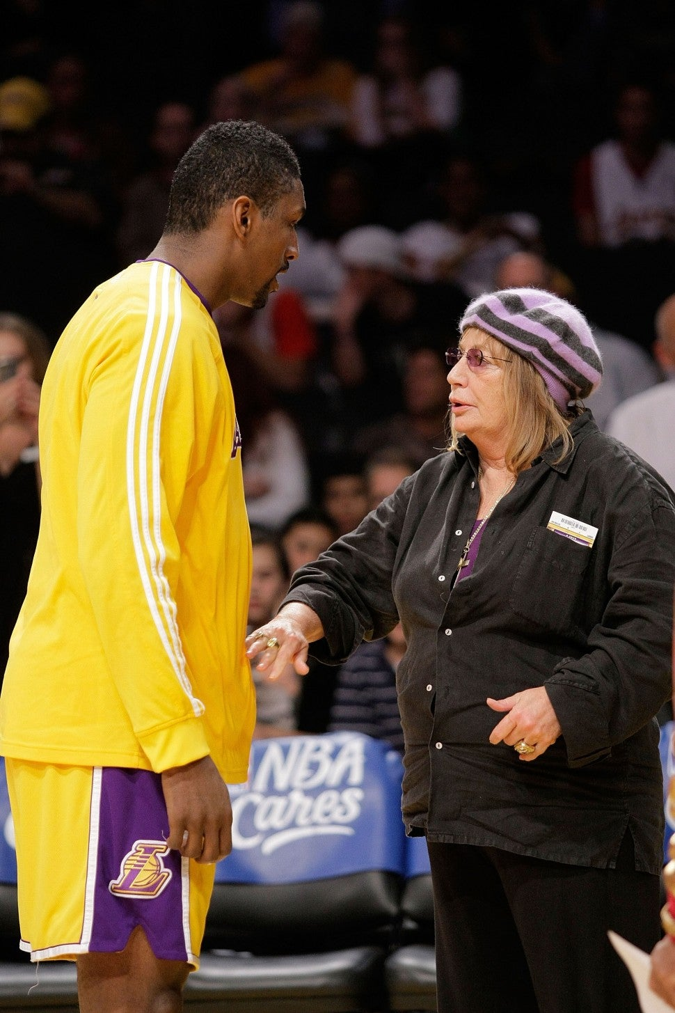 Ron Artest and Penny Marshall