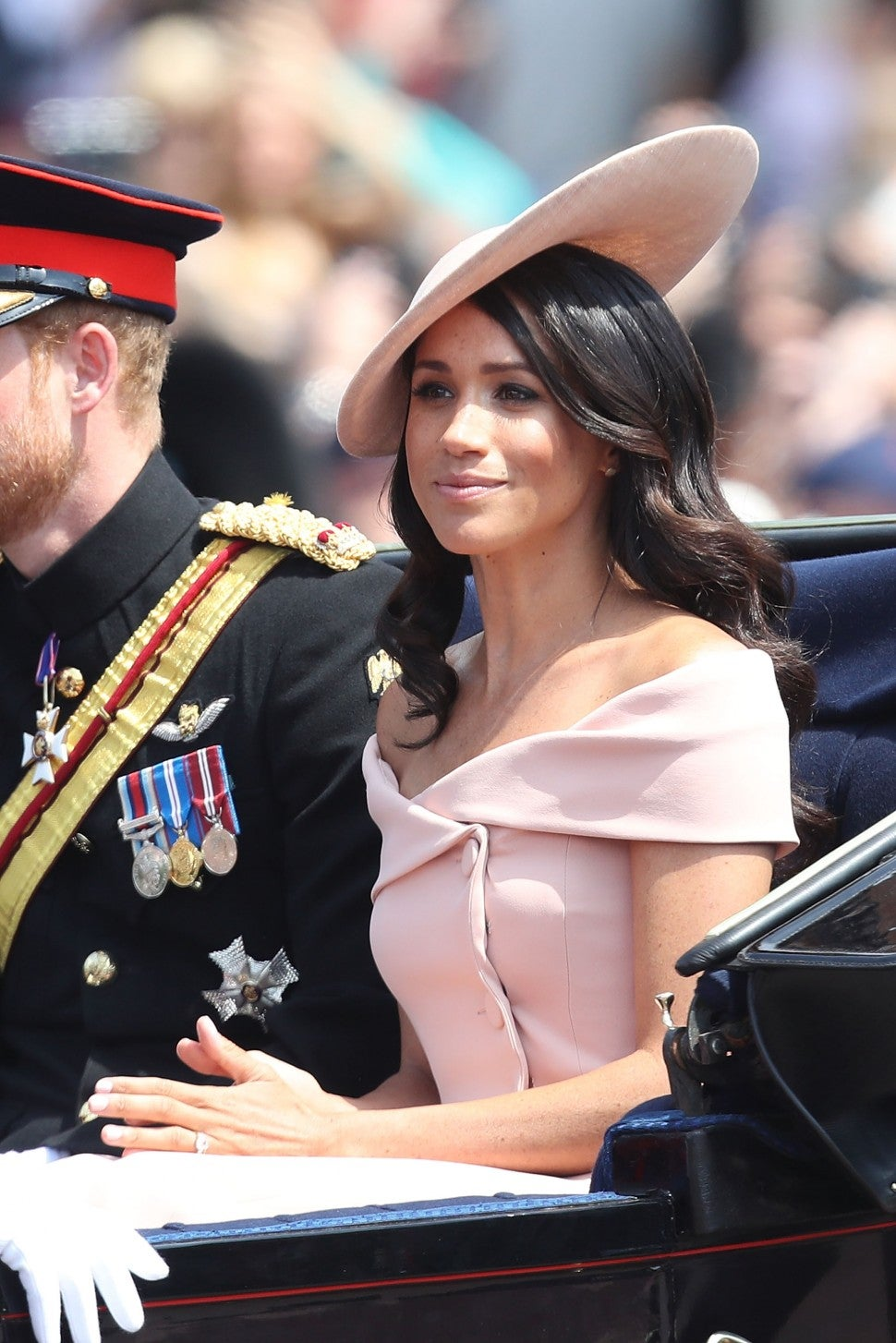 Meghan Markle in Carolina Herrera at Trooping the Colour