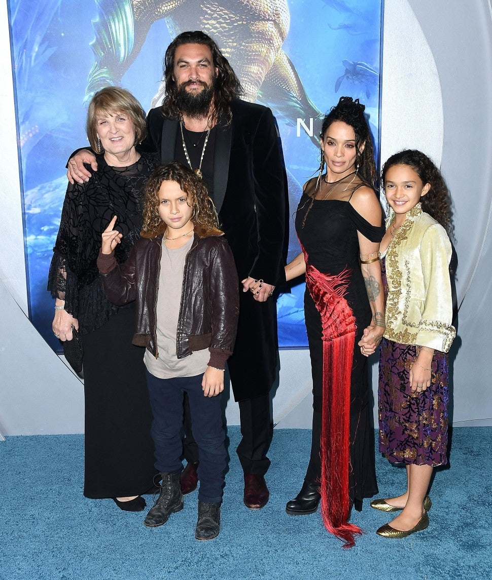 Lisa Bonet, Jason Momoa arrives at the Premiere Of Warner Bros. Pictures' 'Aquaman' at TCL Chinese Theatre on December 12, 2018 in Hollywood, California.