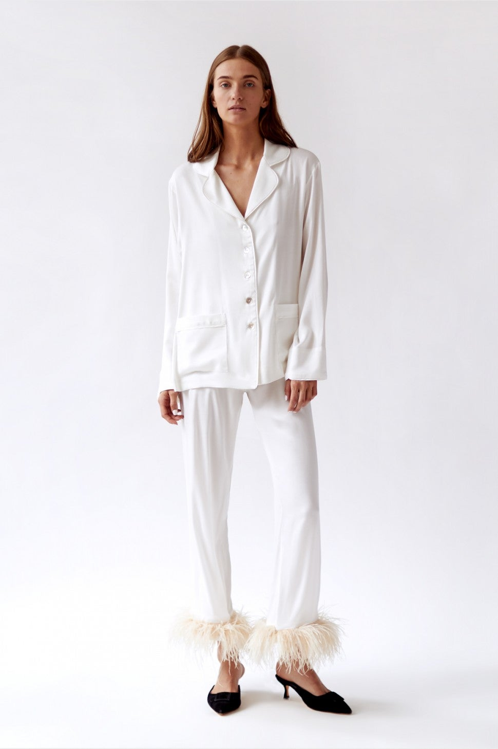 Sleeper white feather pajamas