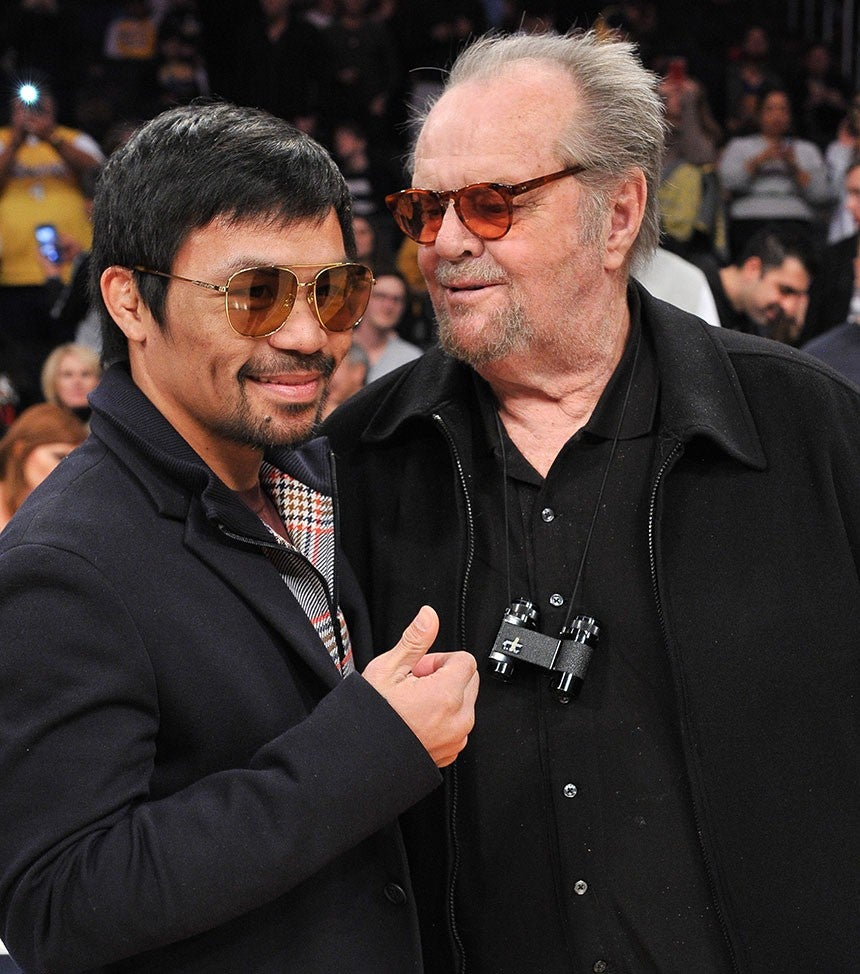 Jack Nicholson Catches Lakers Game With Son Ray In Rare Public Appearance See The Pics Entertainment Tonight Jack nicholson, faye dunaway, john huston. jack nicholson catches lakers game with