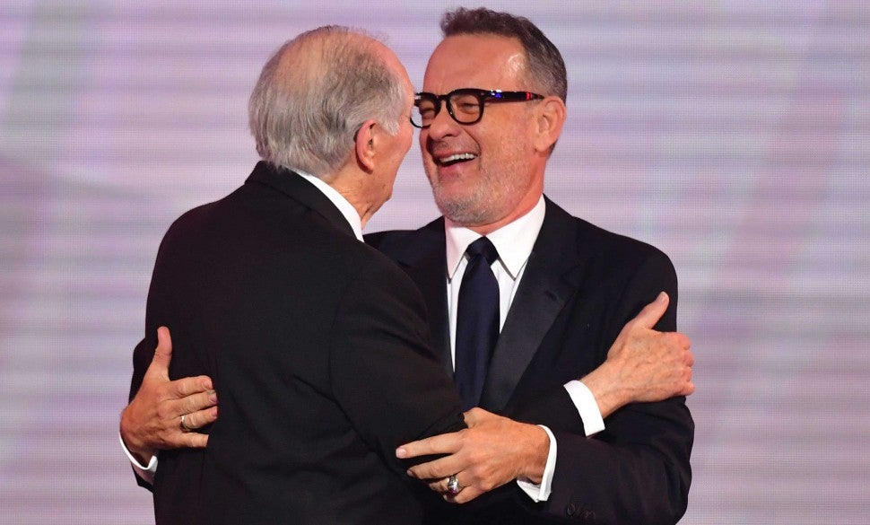 Alan Alda and Tom Hanks at the 25th Annual Screen Actors Guild Awards