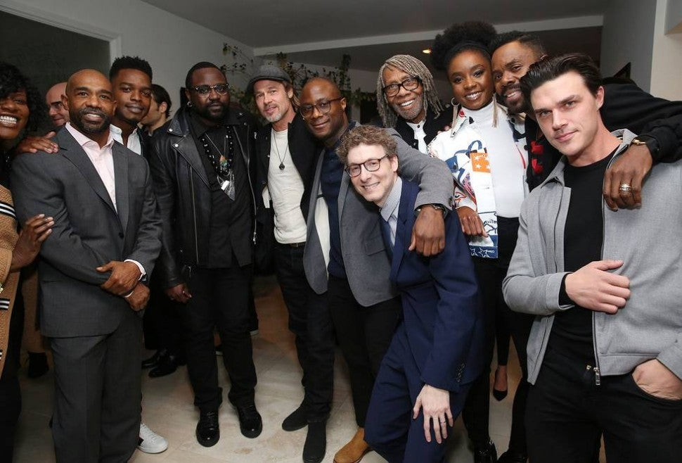 'If Beale Street Could Talk' cast & crew with Brad Pitt