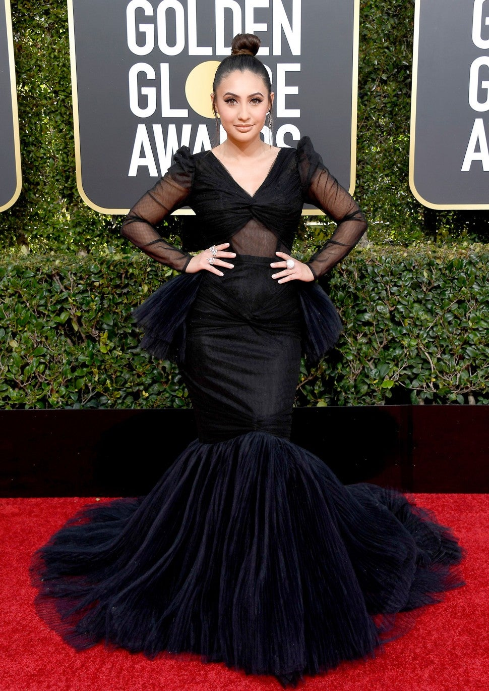Francia Raisa at the 76th Annual Golden Globe Awards