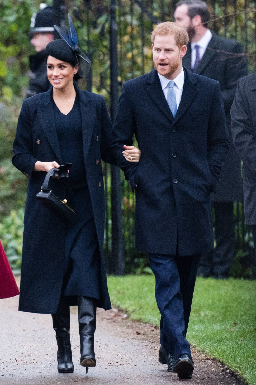 Meghan Markle and Prince Harry at Christmas church service