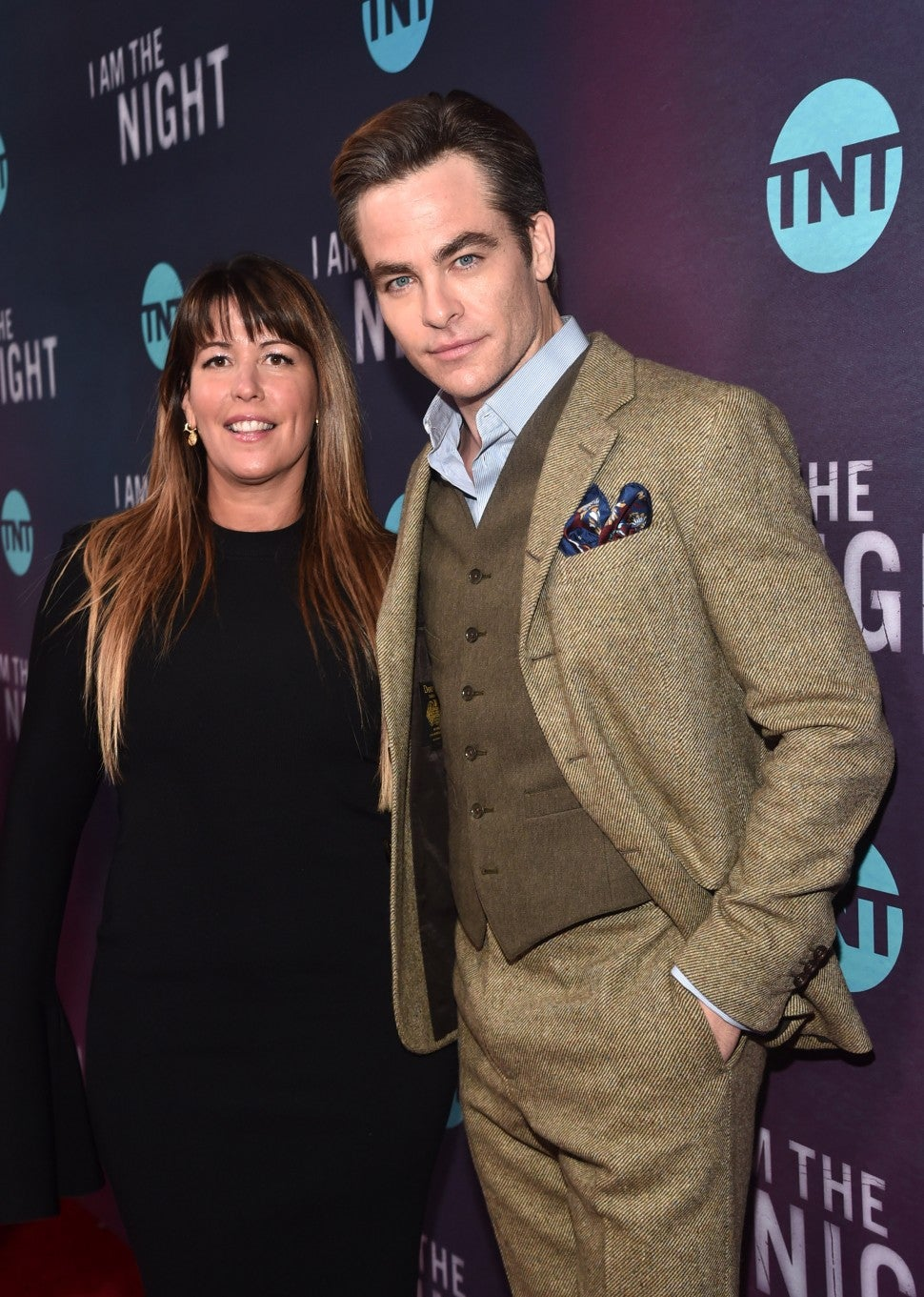 Patty Jekins and Chris Pine I Am the Night LA Premiere