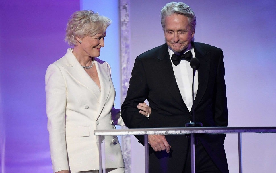 Glen Close and Michael Douglas