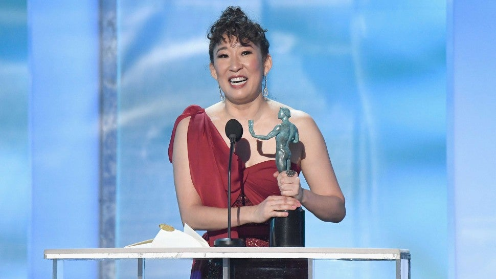 Sandra Oh at the 25th Annual Screen Actors Guild Awards