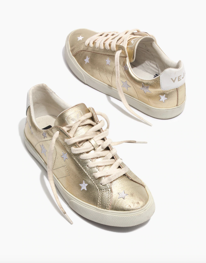 Madewell x Veja gold sneakers